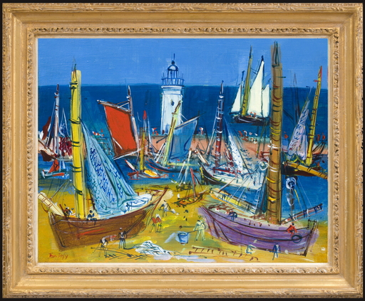 Jean DUFY - Gemälde - Port de l'Île d'Yeu