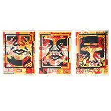 Shepard FAIREY - Print-Multiple - Three Faces Collage