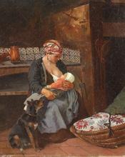 Camille Léopold CABAILLOT-LASSALLE - Painting - maternité