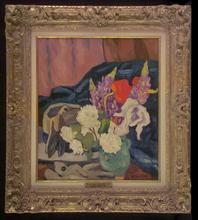 Louis VALTAT - Pittura - Fleurs, Gants et Chapeau