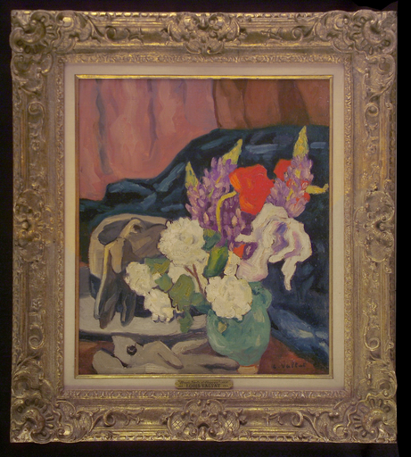 Louis VALTAT - Peinture - Fleurs, Gants et Chapeau
