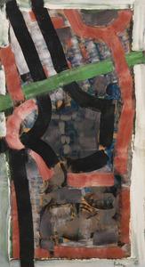 Jean-Paul RIOPELLE - Peinture - F. Jag (Ficelles Jaguar)