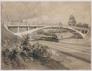 """Reinhold II VÖLKEL - Drawing-Watercolor - """"Motif of Vienna"""" by Reinhold Voelkel, ca 1900"""