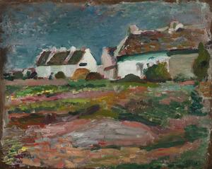 Henri MATISSE - Peinture - Maisons à Kervilahouen, Belle-Île