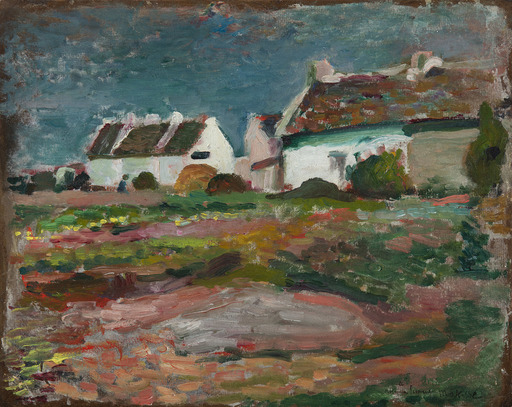 亨利·马蒂斯 - 绘画 - Maison à Kervilahouen, Belle-Île