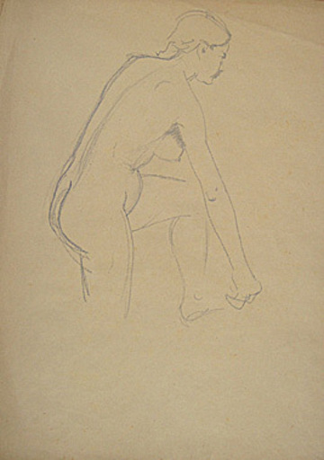 Broncia KOLLER-PINELL - Drawing-Watercolor - Rückenakt