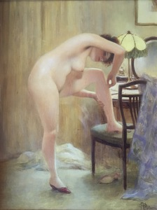 Albert Paul GUILLAUME - Pintura - LE DUVET SUPERFLU