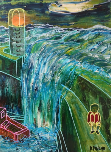 Bernard PINEAU - Painting - H058 Epreuves