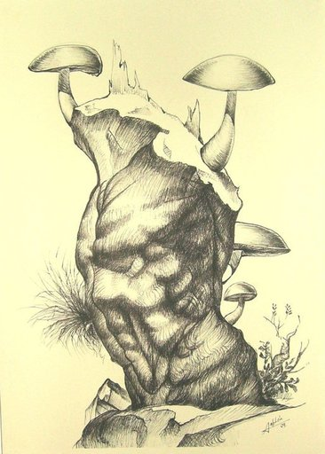 Carlos SABLÓN - Disegno Acquarello - Métamorphose