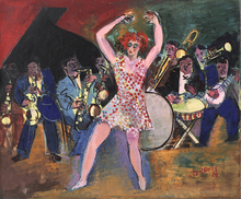 Jean DUFY - Peinture - Au cabaret