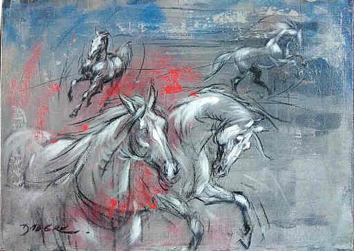 Pascal DABÈRE - Gemälde - Le Manège