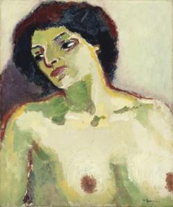 Kees VAN DONGEN - Painting - Buste de femme nue