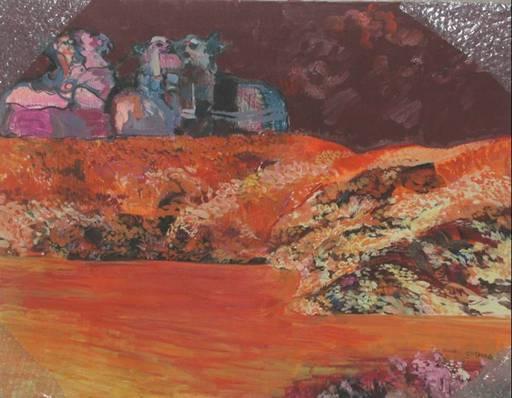 Oscar ESTRUGA ANDREU - Painting - cuatro meninas contemplando el pacifico