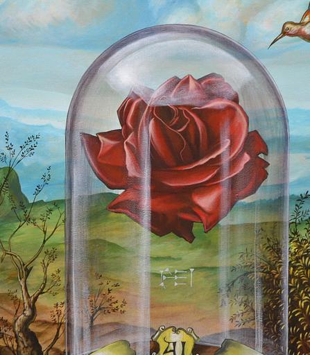 Carlos SABLÓN - Peinture - La Rose