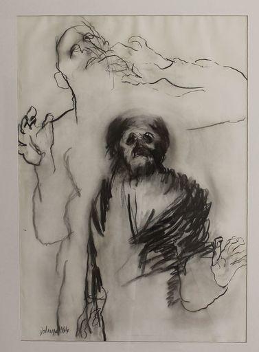Eugène DODEIGNE - Dibujo Acuarela - Twee figuren