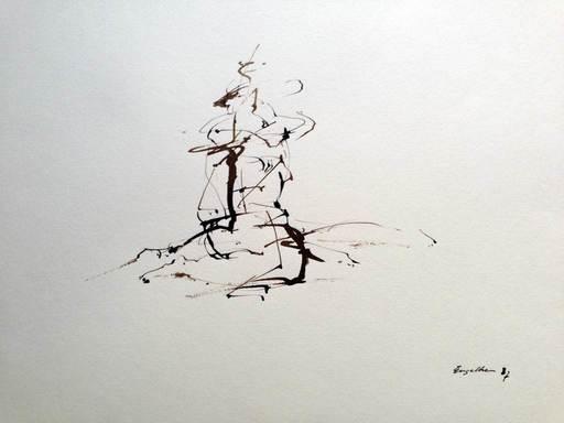 Klaus ENGELKE - Pintura - AbstraktePerson