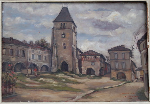Samson FLEXOR - Painting - Beauville (Lot et Garonne)