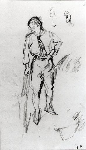 Édouard VUILLARD - Dibujo Acuarela - Amateur de tableaux