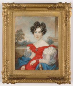 "Johann Nepomuk ENDER - Miniatur - ""Portrait of highly aristocratic lady"""