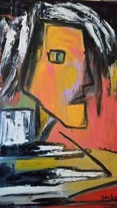 Jacqueline SELLEM - Gemälde - La lettre