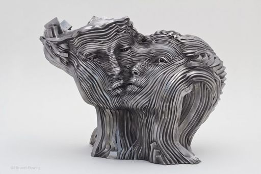 Gil BRUVEL - Sculpture-Volume - Flowing