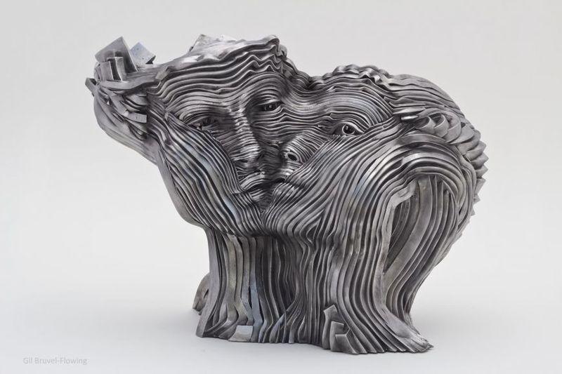 Gil BRUVEL - Sculpture-Volume - Flowing