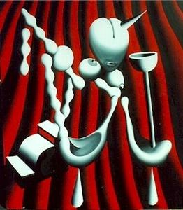 Mark KOSTABI - Painting - The Anatomy of House Music