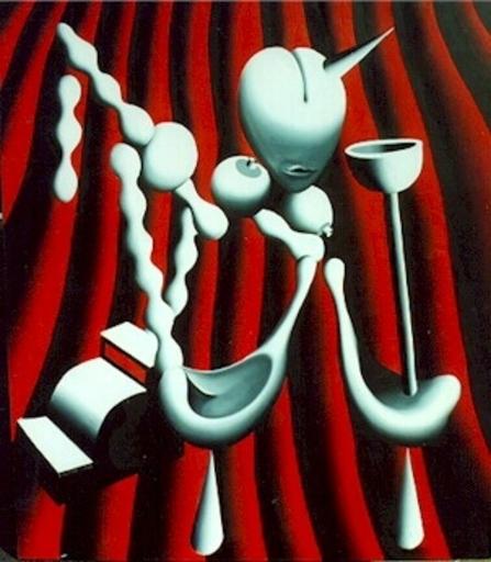 Mark KOSTABI - Peinture - The Anatomy of House Music
