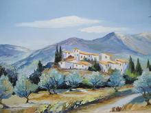 Jean-Louis HONNET - Pintura - Village provençal.