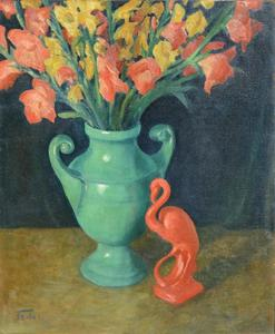 Adolphe FEDER - Painting - Floral still-life