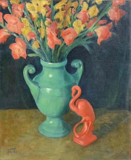 Adolphe FEDER - Pintura - Floral still-life