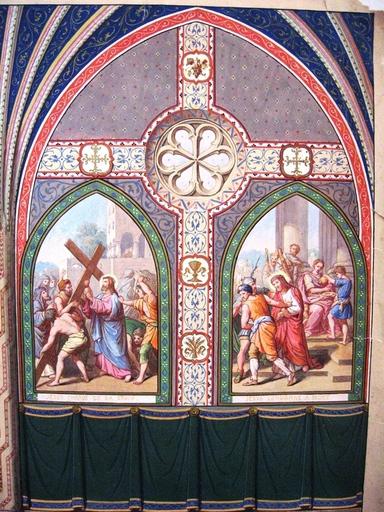 LALOUETTE - Dessin-Aquarelle - CHRIST ET LA CROIX
