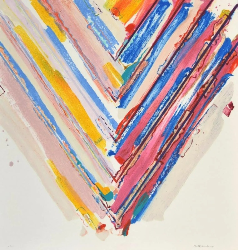 Kenneth NOLAND - Stampa-Multiplo - Large Kenneth Noland Stencil Print, Signed Edition