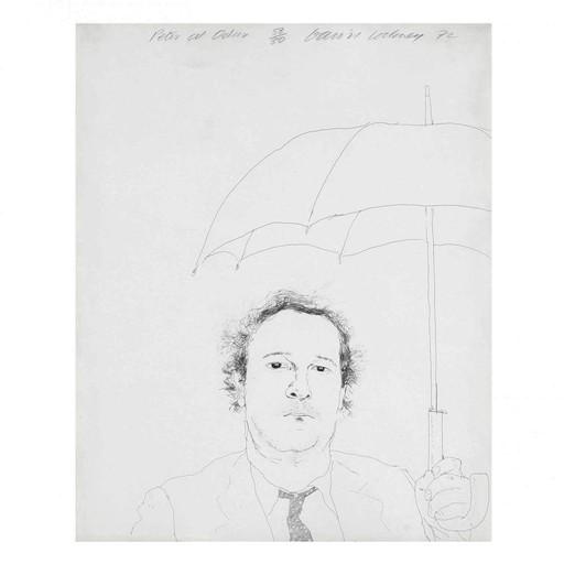 David HOCKNEY - Estampe-Multiple - The Restaurateur
