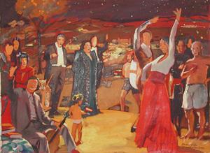 Vladimir  DUBOSSARSKY & Alexander  VINOGRADOV - Pintura - Bozzetto di salute Spagna