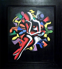 Mark KOSTABI - Painting - Spin The Lady