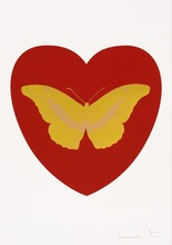 Damien HIRST (1965) - I Love You - Red/Oriental Gold/Cool Gold