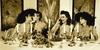 Marc LAGRANGE (1957-2015) - 4 woman at dinner