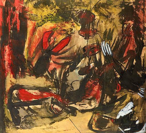 """Jean FETZ - Painting - """"Le cancer rouge"""""""