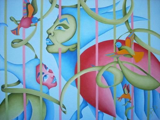 Gilda RICHET - Pittura - Le poète est un drôle d'oiseau
