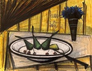 Bernard BUFFET - Gemälde - Assiette de fruits