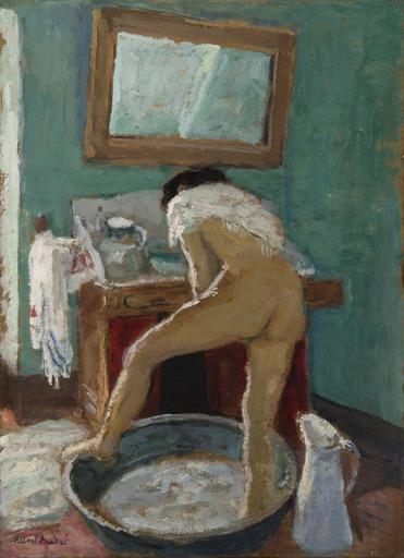 Albert ANDRÉ - Peinture - Le tub