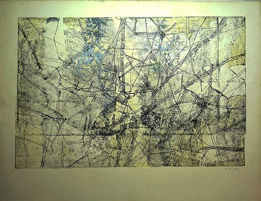 Juan VILACASAS - Pintura - Sin titulo.Planimetria. Paris