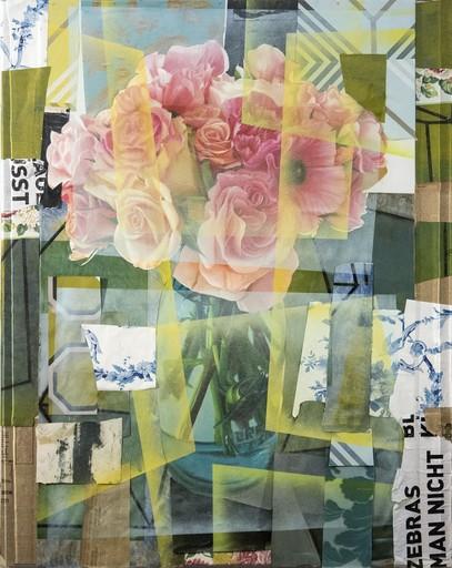 Peter HOFFER - Peinture - Arrangement With Pink Roses