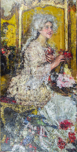 Antonio MANCINI - Painting - Roccocò