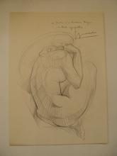 "Georges OUDOT (1928-2004) - ""Nu"" dessin 1969"