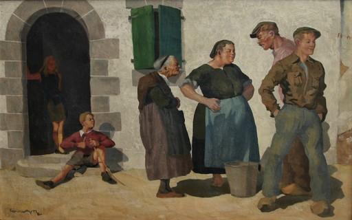 Emile Louis GUILLAUME - Painting - La conversation