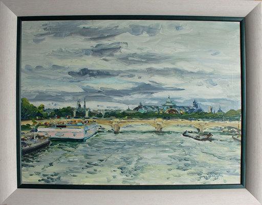 Georges YOLDJOGLOU - Pittura - Le pont de la Concorde