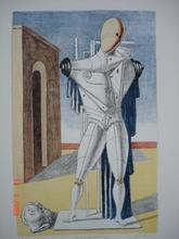 Giorgio DE CHIRICO - Grabado - Il Trovatore solitario 1970