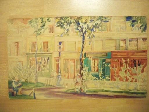 Alexandre BOREGIANOFF - Drawing-Watercolor - Scene de rue